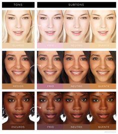 Como descobrir o tom e subtom exatos da sua pele -- #tone #skin #undertone #tom #subtom #base #foundation #corretivo