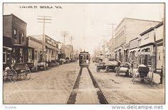 RP: Super-imposed trolly car; Cascade Street , OSCEOLA , Wisconsin , PU-1912 Item number: 272634939  - Delcampe.com