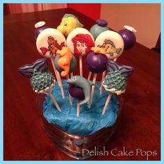 Little mermaid cake pops from www.facebook.com/delish.cakepops