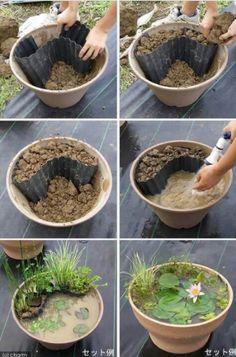 Cute little pond idea
