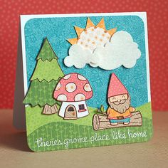 Lawn Fawn- Gnome Sweet Gnome, Critters in the Forest, Bright Side Paper  -Lea Lawson by LFDT13, via Flickr