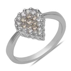 Ebay NissoniJewelry presents - Ladies' 1/2CT Brown and White Diamond Pear Shape Ring in 14k White Gold    Model Number:FRV2194H-W42377    http://www.ebay.com/itm/Ladies-1-2CT-Brown-and-White-Diamond-Pear-Shape-Ring-in-14k-White-Gold/321612168111
