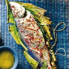 thai baked seabass - looks fantastic and seems quite simple.