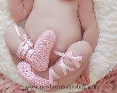 Crochet Baby Booties ballerina shoe paper cutouts - Google Search...