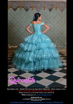 Three piece quinceanera dress.  Long skirt, short skirt and corset.