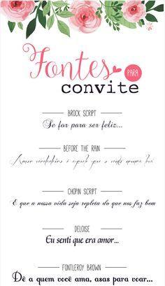 10 sugestões de letras para você fazer o seu convite de casamento em casa http://www.blogdocasamento.com.br/10-sugestoes-de-letras-para-voce-usar-no-seu-convite-de-casamento/