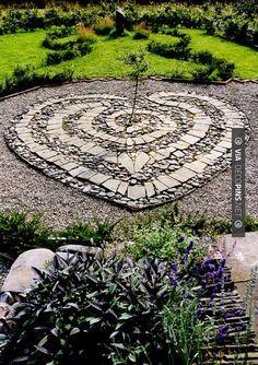 48 Creative Backyard Rock Garden Ideas to Try and Outdoor # Garden Paths, Garden Landscaping, Herb Garden, Garden Beds, Landscaping Ideas, Rocks Garden, Stone Landscaping, Landscape Design, Garden Design