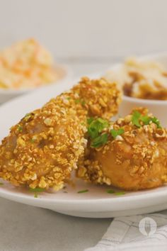 This popcorn-crusted chicken can be used to crumb chicken strips, drumsticks, or wings to bring to life easy weeknight dinners. These crumbed chicken recipes make easy snacks, are a quick and easy lunchbox idea, and make easy game-day snacks or kid's party snacks too!