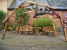 Garten Pavillon da Vinci Bogen Brücke , Woodsche