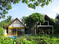 Beach Villa with Pool at the Four Seasons Landaa Giraavaru, #Maldives.
