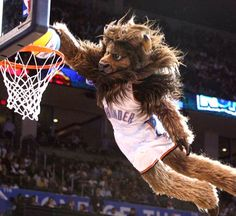 It's Rumble! It's like Disney's Beast learned how to dunk. Thunder Up!