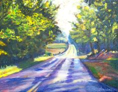 Landscape Paintings Art By Lisabelle Oil on canvas 11x14 Sutton Road August 2012