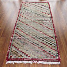 "Turkish Vintage Runner ,Wool Corridor Kilim Rug, 31.5""x65.7"" Kelim, Hallway Rug #Kayseri"