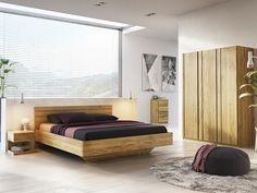 """Eichenschlafzimmer mit Massivholzbett """"Lisa"""" 180 x 200 cm"""
