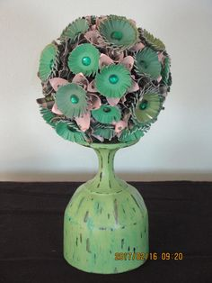 St Patrick Day Kissing Ball/ Origami Flower by BorderCountryCorner