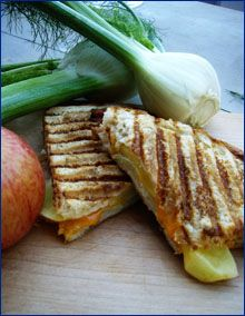 Fennel, Apple  Chedder Cheese Panini