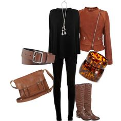 """Black and tan"" by fiona-ross on Polyvore"