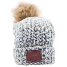 82b2de2354b Blue Speckled Pom Beanie (Natural Pom) – Love Your Melon Love Your Melon  Beanie