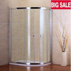 Shower Enclosure Walk In Quadrant Cubicle Corner Glass Door Stone Tray BACA