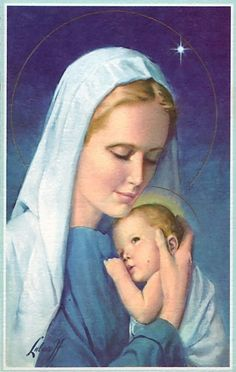 Old Christmas Post Сards — Madonna & Child (570x900)