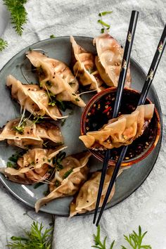 chicken potstickers with soy-honey-chili sauce Chicken Recipes, My Recipes, Favorite Recipes, Dumpling Filling, Honey Sauce, Chili Sauce, English Food, Sugar And Spice, Food Design