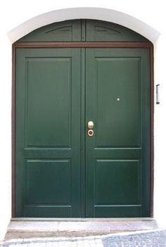 Dvoukřídlé bezpečnostní dveře NEXTSD102D jako replika původních dveří v památkově chráněném domě