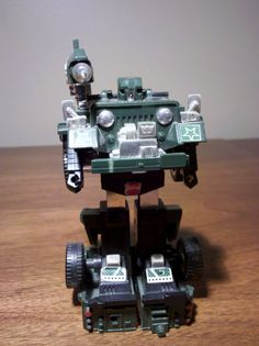 Transformers: Hound. My model is incomplete and rather forlorn, but this was a great Transformer back in the day.