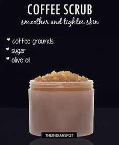 Coffee face and body scrub: COFFEE BEAUTY RECIPES Integrating coffee in your beauty regime is easy. Here are some of the simplest ways of using coffee in your beauty recipes: Exfoliation is an important step to keep your skin clean and smooth. Try using your homemade coffee scrub which not only exfoliates your skin …