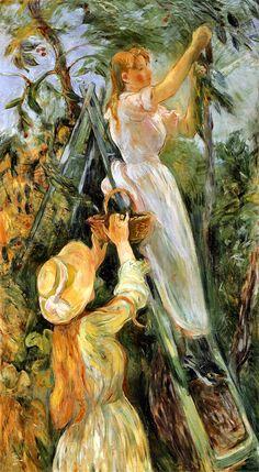 Berthe Morisot (French artist, 1841-1895) The Cherry Tree
