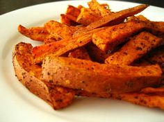 Roasted sweet potatoes with cumin and chili powder - Top Healthy and Organic Foods for the First Trimester ~ Inhabitots.com