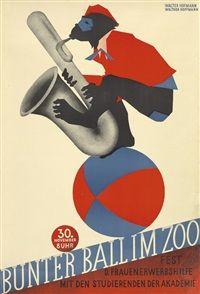 Walter Hofmann  Bunter Ball im Zoo, 1932