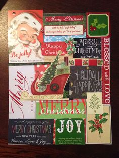 Use cut up Christmas cards as wall art!