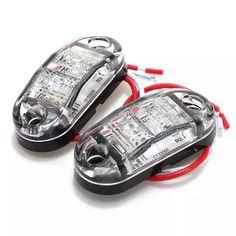 Online shopping for White LED Side Marker Light Clearance Lamp Car Truck Trailer Caravan Car Styling. Cheap Sides, White Lead, Car Lights, Caravan, Pairs, Trucks, Marker, Led, Style