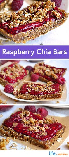 No-Bake Raspberry Chia Breakfast Bar Recipe