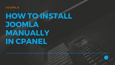 JustITHosting -How to install joomla manually in cPanel. Let's see how to upload and install Joomla manually on a cPanel hosting web server. Virtual Private Server