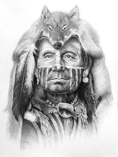 """Ghost of the Wolf"", by artist, Wow! A Very Beautiful Drawing."