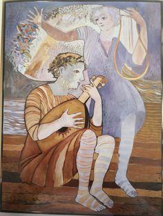 the Muse   oil on canvas  Jan Vermeiren.