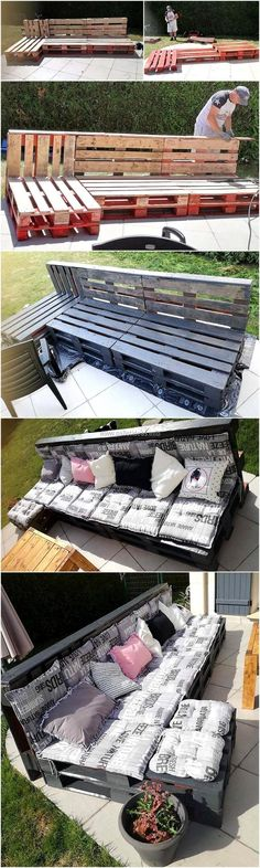 Now have a look at the idea for creating a patio couch, it is a good idea for arranging seating place for the family members; so they can pass a quality time with each other while having fun in the fresh air.