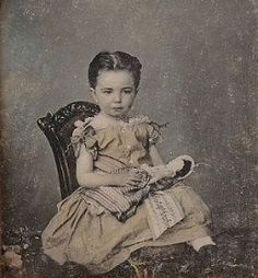 civil war era Little Girl & Doll