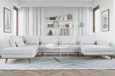 Copenhagen U-Soffa Vänster Sammet - Grå   Trademax.se Dining Bench, Entryway Bench, Couch, Living Room, Design, Furniture, Home Decor, Copenhagen, Komfort