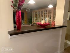 Stained Ash Bar Top in Collegeville, PA | Grothouse Image Library Countertop Options, Wood Countertops, Bar Tops, Wenge Wood, Custom Wood, Ash, Interior Decorating, Traditional