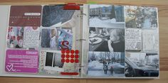 I would like for my project life book to look more like this.... I think mine is packed with too many stories...