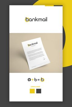Logo Design for Bankmail  https://www.behance.net/gallery/42258085/Bankmail-logodesign