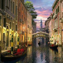 Valokuvatapetti - Venice at Dusk