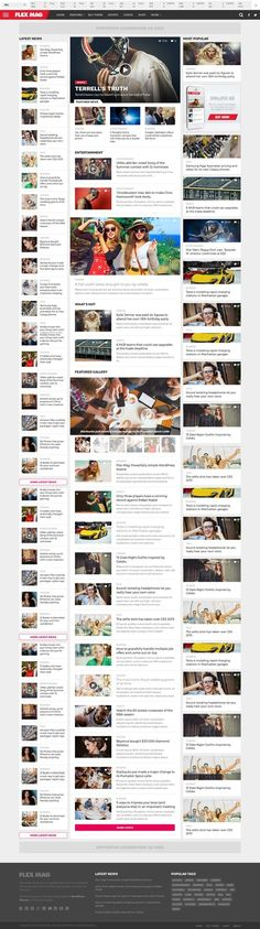 Fusion - WordPress Blog Theme   Beautiful Website   Web UI Design ...