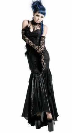 (Just thought this was neat) NEW! Punk Black Gothic Rock Handsome Sexy Sleeveless Party Kimono Dress S L XXL
