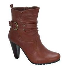 @Overstock - Update your wardrobe this season with the stylish Amanda-5 round toe boot. It features a high heel and buckle detailing at the ankle.http://www.overstock.com/Clothing-Shoes/Womens-Beston-Amanda-5-Cognac/7456889/product.html?CID=214117 $39.95