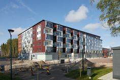 Kivistön puukerrostalo Koskisen puisista seinä- ja kattoelementeistä Wooden Architecture, Multi Story Building