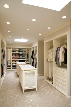 closet. Love the idea of skylights in a closet to give natural lighting...