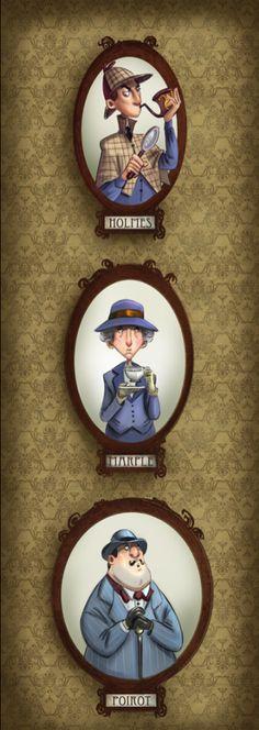 "Holmes ~ Marple ~ Poirot ""Mystery Solved"" by Patrick Ballesteros"